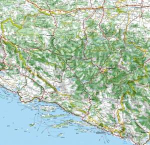 Auto karta Bosne i Hercegovine, mapa BiH