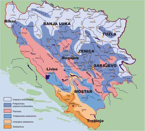 Klima u Bosni i Hercegovini