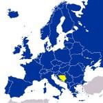 Mapa - BiH, EvropaEvropa