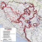 Mapa minskih polja u BiH