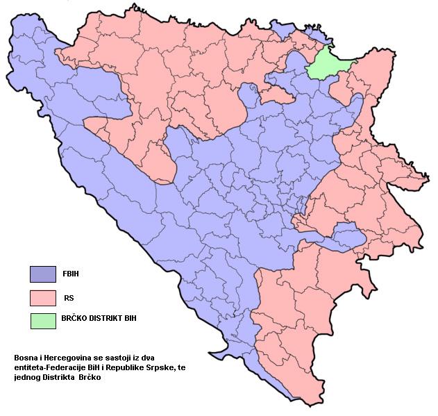 Bosna i Hercegovina - Administrativno uređenje