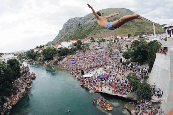 Mostar, skokovi, Stari most, Lorens Listo