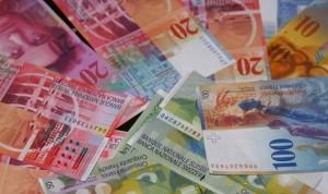 Švicarska, franak