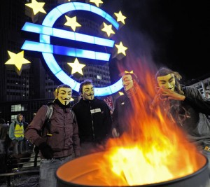 protest, euro