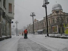 Brčko, snijeg