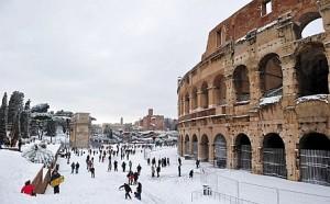Evropa, snijeg