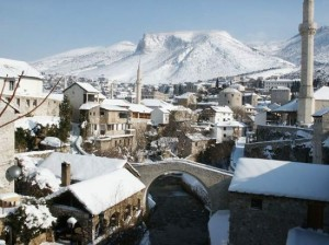 Mostar, snijeg, nevrijeme