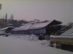 stadion, Grbavica, snijeg