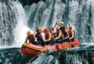 Una, rafting