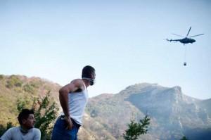 Jablanica, požar, helikopteri