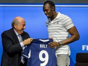 Sepp Blatter, Usain Bolt