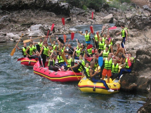 turisti, BiH, Rafting