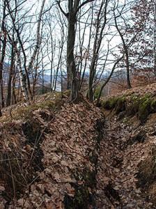 Križančevo selo, rovovi iz rata u blizini spomenika, Foto: Ajdin Kamber