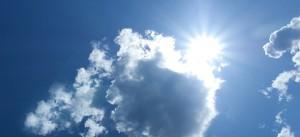 oblaci, sunce