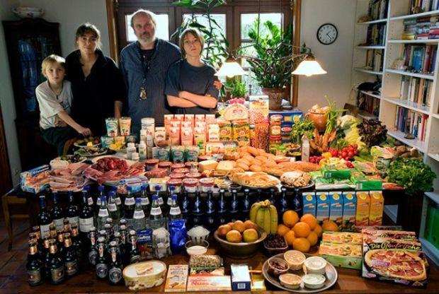 Porodica Melander iz Njemačke troši oko £ 320 sedmično na namirnice