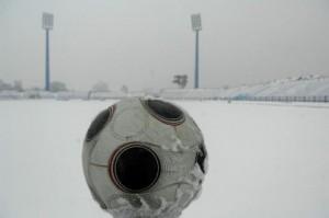 snijeg, fudbal