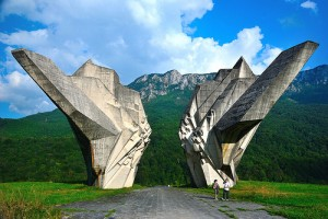 Tjentište,  spomenik, BiH
