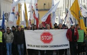 Hrvatska, Zagreb, protesti