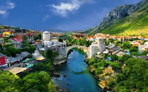 tourists Mostar