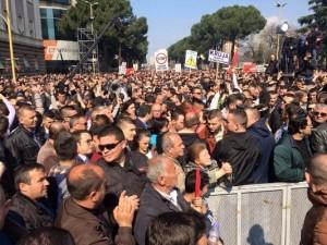 Albanija, protest