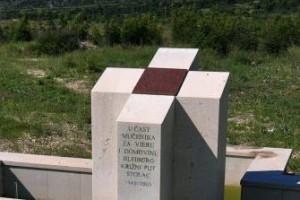 Spomenik blajburškim žrtvama na Radimlji
