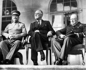 Teheran - Roosevelt, Churchill, Staljin