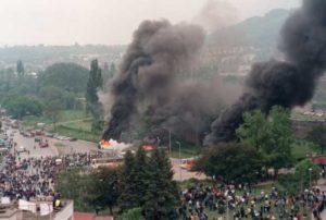 Banja Luka, neredi, Ferhadija 2001