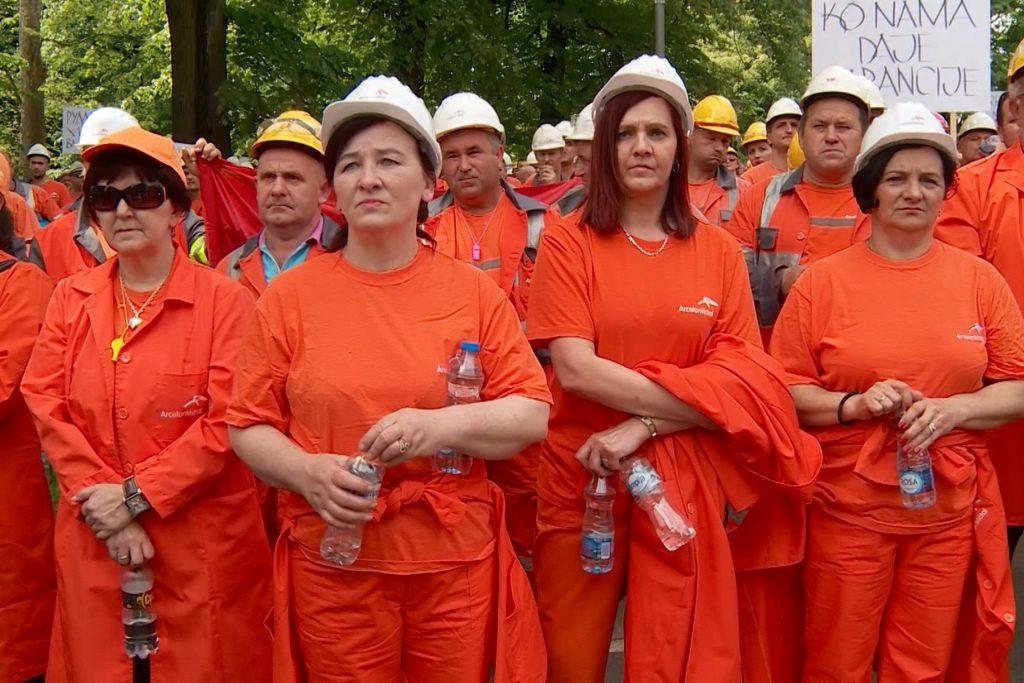 Ljubija, radnici, protest