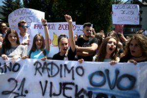 Jajce, protest