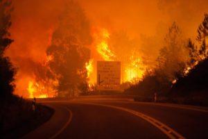 Portugal, požar