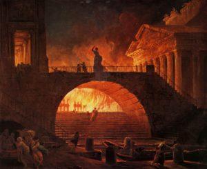 Rim, požar