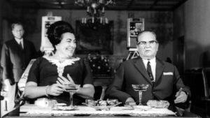 Jovanka Broz i Josip Broz Tito