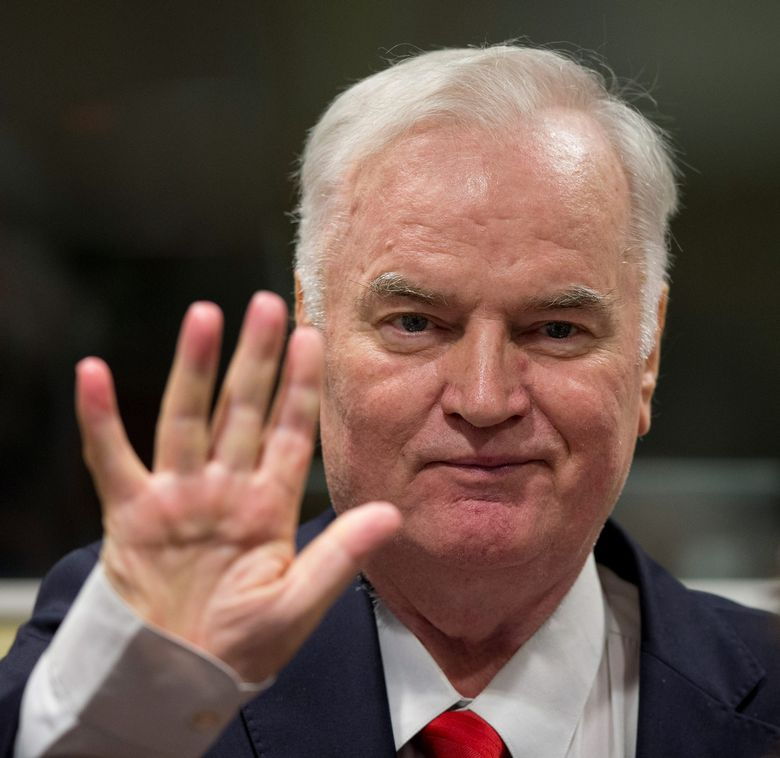 Ratko Mladić na izricanju presude, 22.11.2017.