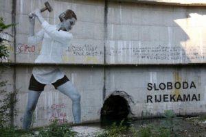Mural na brani Idbar, Konjic