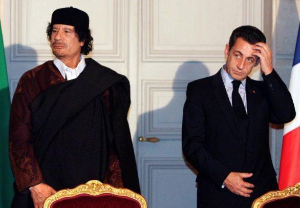Nicolas Sarkozy Muammar Gaddafi
