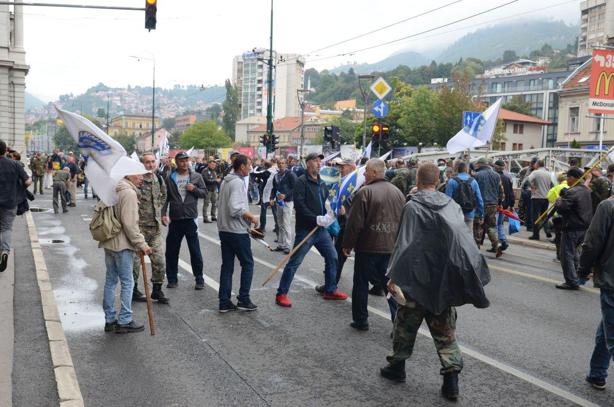 demobilisani borci, protest