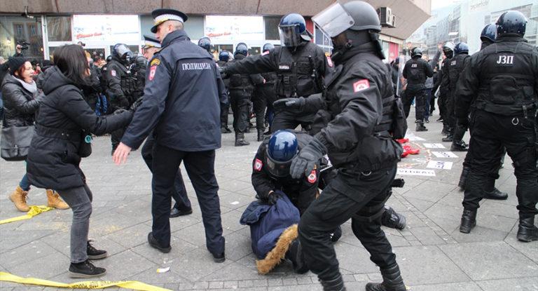 Banja Luka, protest, policija
