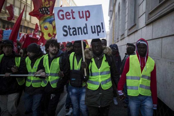 Rim, protest, migranti