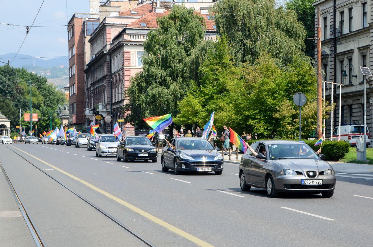 Povorka ponosa, Sarajevo 23.08.2020, foto: Ajdin Kamber