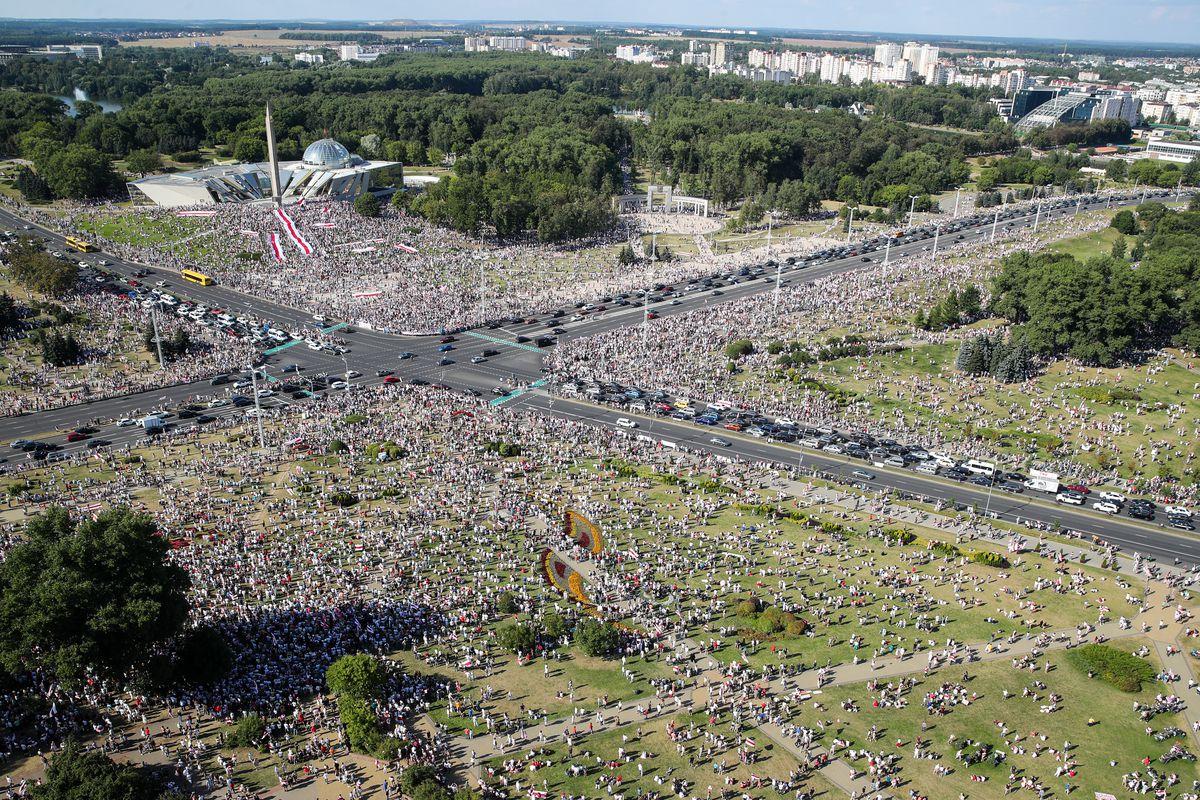 Minsk, protest