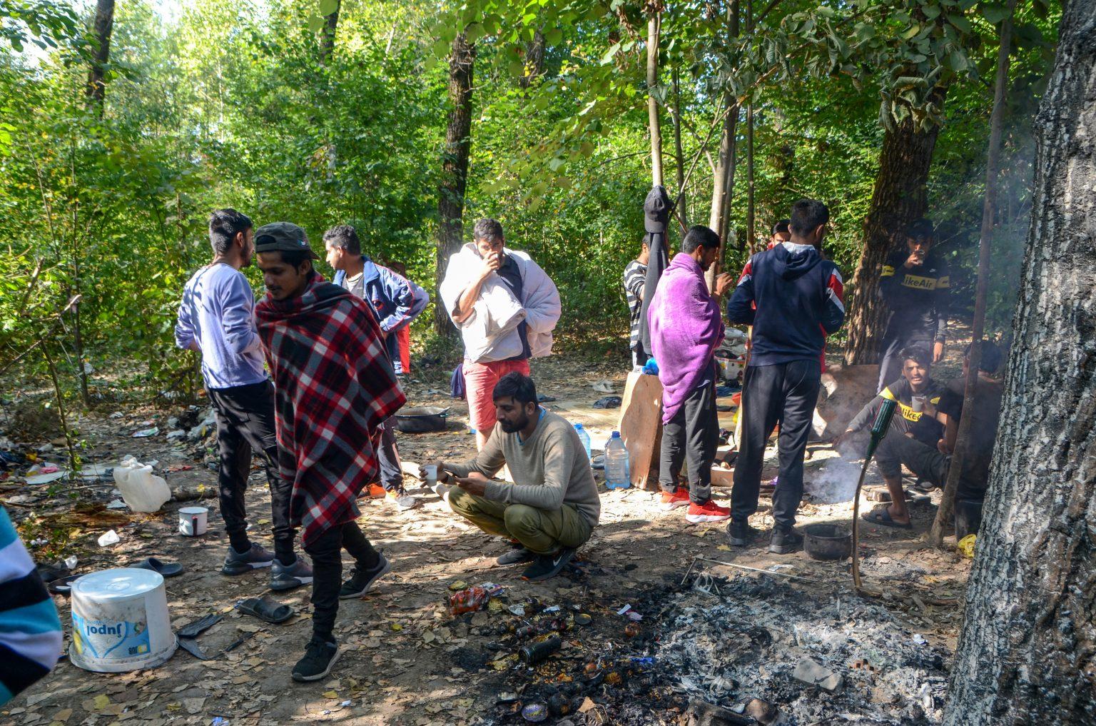 Izbjeglice i migranti žive u šumi u okolici Bihaća. Foto: Ajdin Kamber